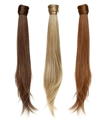 ponytail extensions ægte hår
